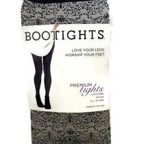Bootights Premium Tights Lillith Cobblestone Scroll Attached Ankle Sock Size A Photo
