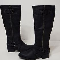 Boots Shoes Womens Rampage Mercer Tall Smooth Black  M10290 6.5 M  Photo