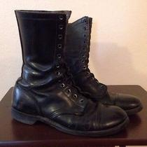 Boots Steel Toe Black Leather Military Biltrite Mens Sz 8.5 Grunge Boots Photo