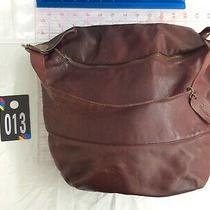 Borrelli Burgundy Wine Large Leather Shoulder Hobo Tote Satchel Slouch Purse Bag Photo