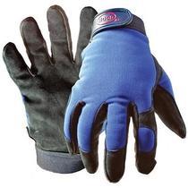 Boss Gloves Medium Black & Blue Boss Guard Leather Gloves 890m Photo