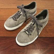 Boss Hugo Boss Gray Suede Sneakers Size 38 Photo