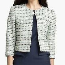 Boss Hugo Boss Womens Jemilina Jacket Business Tweed Cropped Blazer Size 6  Photo