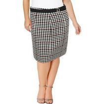 Boss Hugo Boss Womens Vulnona B/w Textured Knee-Length Pencil Skirt 0 Bhfo 9082 Photo