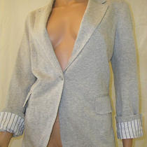 Boston Proper Heather Gray Knit Boyfriend Blazer Jacket M Nwot Photo