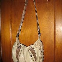 Botkier Antique Off White Leather Handbag With Detachable Shoulder Strap Photo