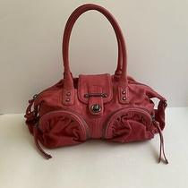 Botkier Bianca Red Leather Satchel With Front Pockets Bag Purse Photo