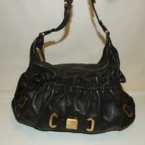 Botkier Black Leather Large Hobo Bag Purse Handbag Photo