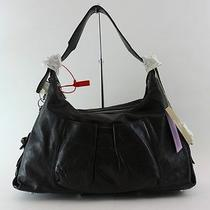 Botkier Black Leather Violet Shoulder Hobo Bag 595 Nwt Photo