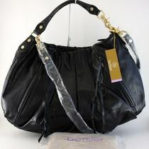 Botkier Black Pleated Leather James Shoulder Hobo Bag 595 Nwt Photo