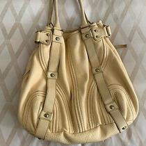 Botkier Butter Yellow Huge Hobo Tote Handbag in Excellent Condition Photo