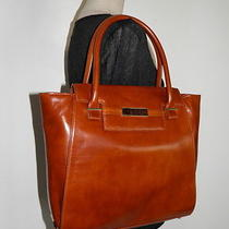 Botkier Cognac Brown Leather Handbag Nicola Tote Large Bag Shopper Carryall New  Photo