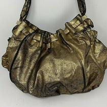 Botkier for Target Gold Metallic Hobo Large Bag Purse Tote Trendy Chic Photo