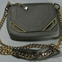 Botkier Highline Gray Leather Convertible Crossbody Bag / Clutch Photo