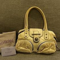 Botkier Ivory Leather Satchel With Gold Leather Accents Photo