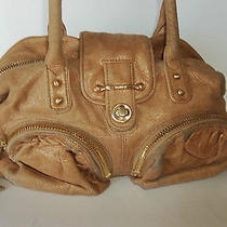 Botkier Large/medium Brown Gold Leather Gorgeous Handbag Purse Shoulder Bag Photo