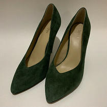 Botkier Lina Green Suede Pump Size 8.5 148 Photo