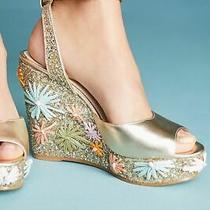 Botkier New York Jessie Pastel Floral Raffia Wedge Sandals Size 9.5 335 Msrp Photo