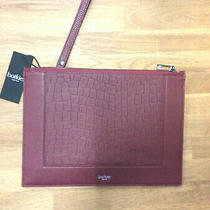 Botkier New York Top Zip Clutch Bodeaux Croco Photo