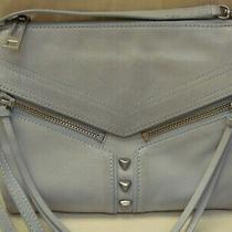 Botkier Pale Blue Leather Trigger Crossbody Bag Convertible Clutch Photo
