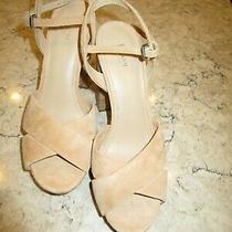 Botkier Platform Biscuit Color Sandals Open Toe Nwb Sixe 8 Crossover Vamp Straps Photo