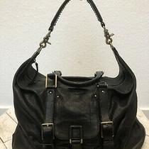 Botkier Purse Buttery Black Leather Weekender Hobo Bag Shoulderbag Large Photo