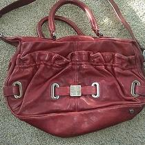 Botkier Red Wine Stevie Satchel Handbag Satchel Used  Photo