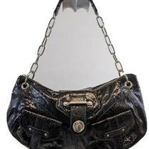 Botkier Shoulder Hobo Satchel Purse Bag Handbag Black Faux Leather Medium   Photo