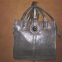 Botkier Silver Leather Sac Bag Tote Purse Handbag 645 Photo