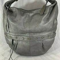 Botkier Silver Tone Leather Tote Shoulder Bag  Photo