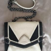 Botkier Tan and Black Leather Chained Link Crossbody Bag Purse New Photo