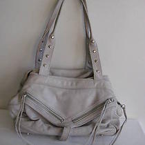 Botkier Trigger Chalk Celadon Light Green Grey Cool Leather Bag Unique Rare Photo