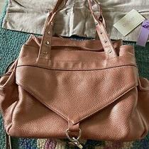 Botkier Trigger Satchel Blush Metallic Leather Brown Handbag Tote Purse Fringe Photo