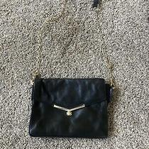 Botkier  Valentina Black Leather Purse Clutch Wristlet Photo
