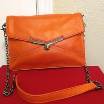 Botkier Valentina Shoulder Bag Gunmetal Hw Burnt Orange Sample New Small Defects Photo