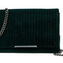 Botkier Vanderbilt Wallet on a Chain Women's Velvet Crossbody Bag Clutch Emerald Photo