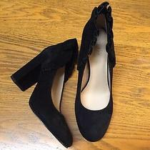 Botkier Vienna Ruffled Suede Pumps Heel Shoes Nwob Size 8 Photo