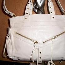 Botkier White Leather Bag Sachel Tote Sac Purse Handbag Photo