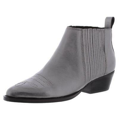 Botkier Womens Texas Gray Leather Booties Shoes 7 Medium (B,M) BHFO 5088 Photo