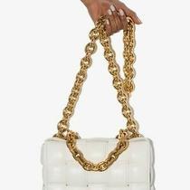 Bottega Veneta Bag Chain Cassette Clutch Gold Instagram White Instagram New  Photo