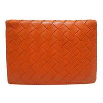 Bottega Veneta Bottega Veneta Two-Fold Pass Case Orange Orange Small Car (5928 Photo