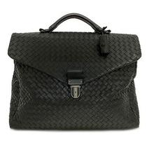Bottega Veneta Business Bags Black Intrecciato 113095 Briefcase Leather Used Photo