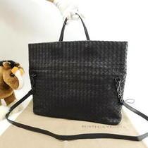 Bottega Veneta Handbags Intrecciato Leather Black Toe Bag 147 Photo