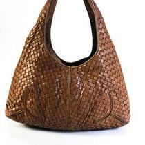 Bottega Veneta Intrecciato Leather Woven Hobo Bag Brown Photo