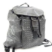 Bottega Veneta Intrecciato Luc Daypack Unisex Leather Black 361014 Photo