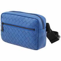 Bottega Veneta Intrecciato Weave Belt Bag in Blue 601062 Vcpq2 4230 Photo