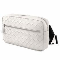 Bottega Veneta Intrecciato Weave Belt Bag in White 601062 Vcpq2 9608 Photo