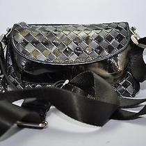Bottega Veneta Marbled Green & Black Weave Leather Mini Purse Wallet Handbag Photo