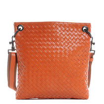 Bottega Veneta Nappa Intrecciato Small Pocket Vn Bag Tote Purse Orange Photo