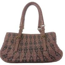 Bottega Veneta Small Mauve Woven Satchel - With Black Painted Accents Photo